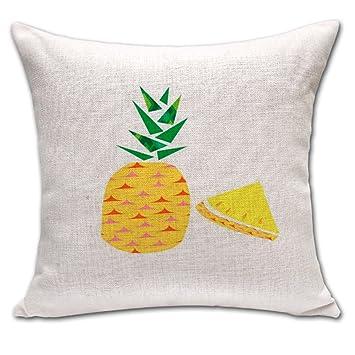 Piña Cactus de cojín, lino y algodón manta funda de almohada ...