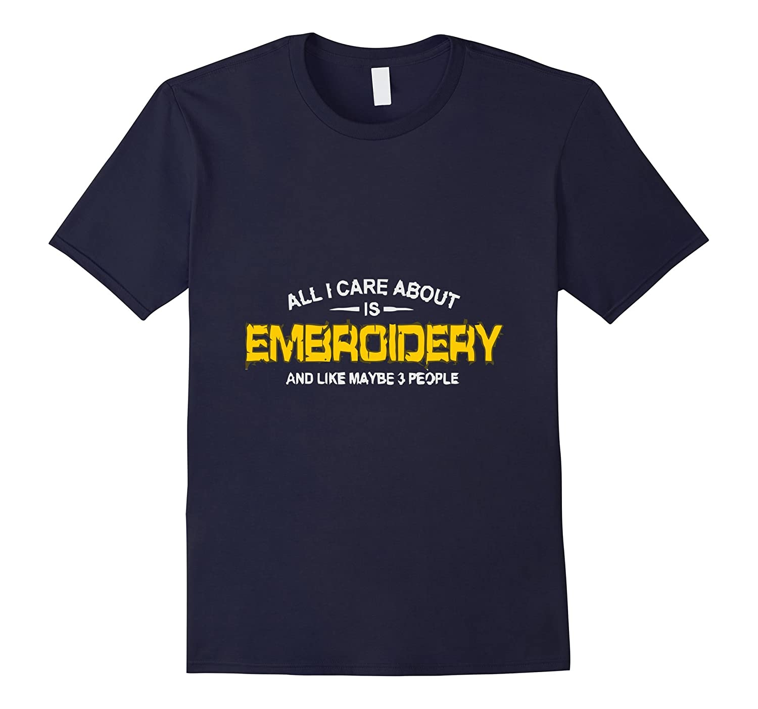 ALL I CARE IS EMBROIDERY tshirt-BN