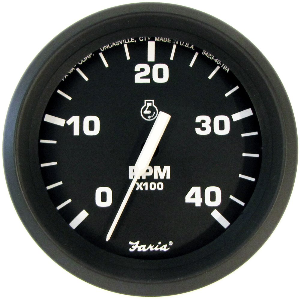 Faria 32842 Euro Tachometer Gauge 4000 RPM Diesel Mech Takeoff & VAR-4'' by Faria