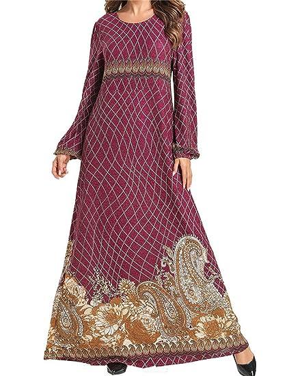 Ropa Mujer Musulmana Vestidos Largos Manga Larga Turca