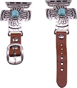 40mm/38mm Compatible for Apple Watch, Bold Cross with Turquoise Accent Watch Band No. 2