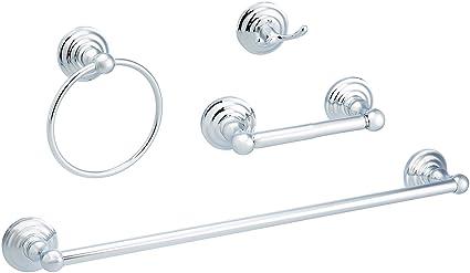 AmazonBasics - Juego de accesorios para baño tradicionales ...