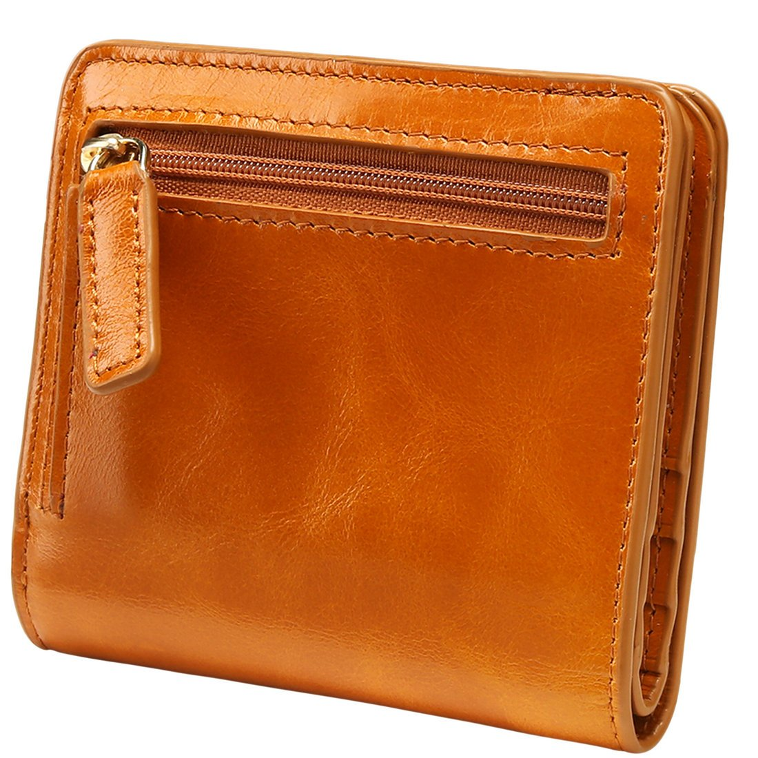 Itslife Women's Rfid Blocking Small Compact Bifold Leather Pocket Wallet Ladies Mini Purse with id Window (Brown) by ITSLIFE (Image #7)