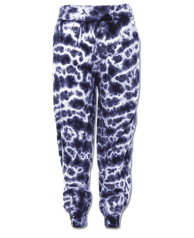 Soul Flower Women's Electric Tie-Dye Organic Harem Pants