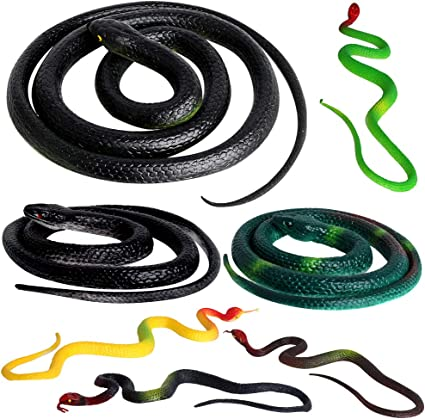 Medusa Costume Realistic Snakes Pretty Good Gag Fake Snakes Helping Save Garden Wirrabilla 9 in 1 Rubber Snakes Looks Supper Real Halloween Props