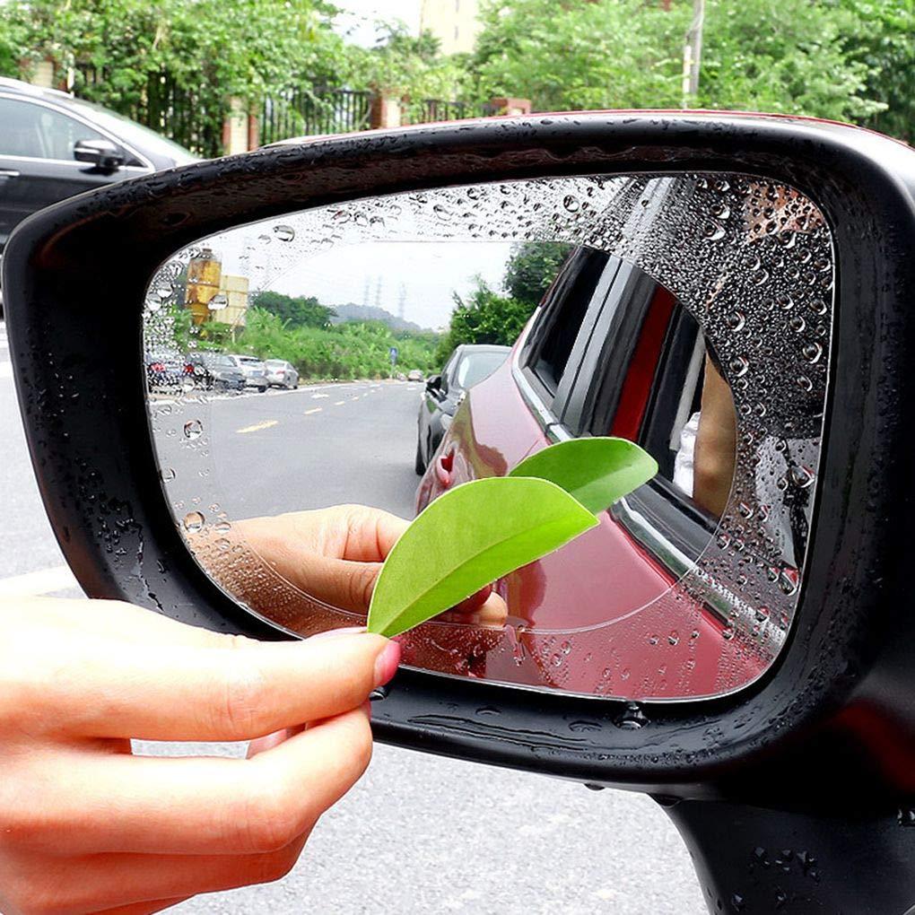 Floridivy 1 Par hidrof/óbica de la pel/ícula a Prueba de Lluvia Espejo retrovisor de conducci/ón Segura Pegatinas Impermeable Resistente al Rayado del Espejo de Coche de la pel/ícula