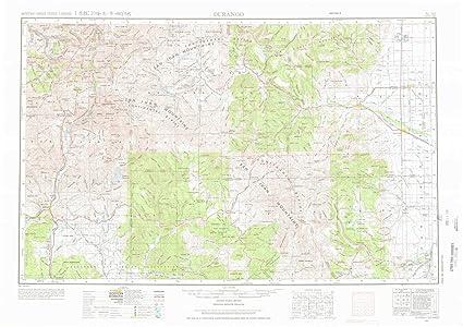 YellowMaps Durango CO topo map, 1:250000 Scale, 1 X 2 Degree,