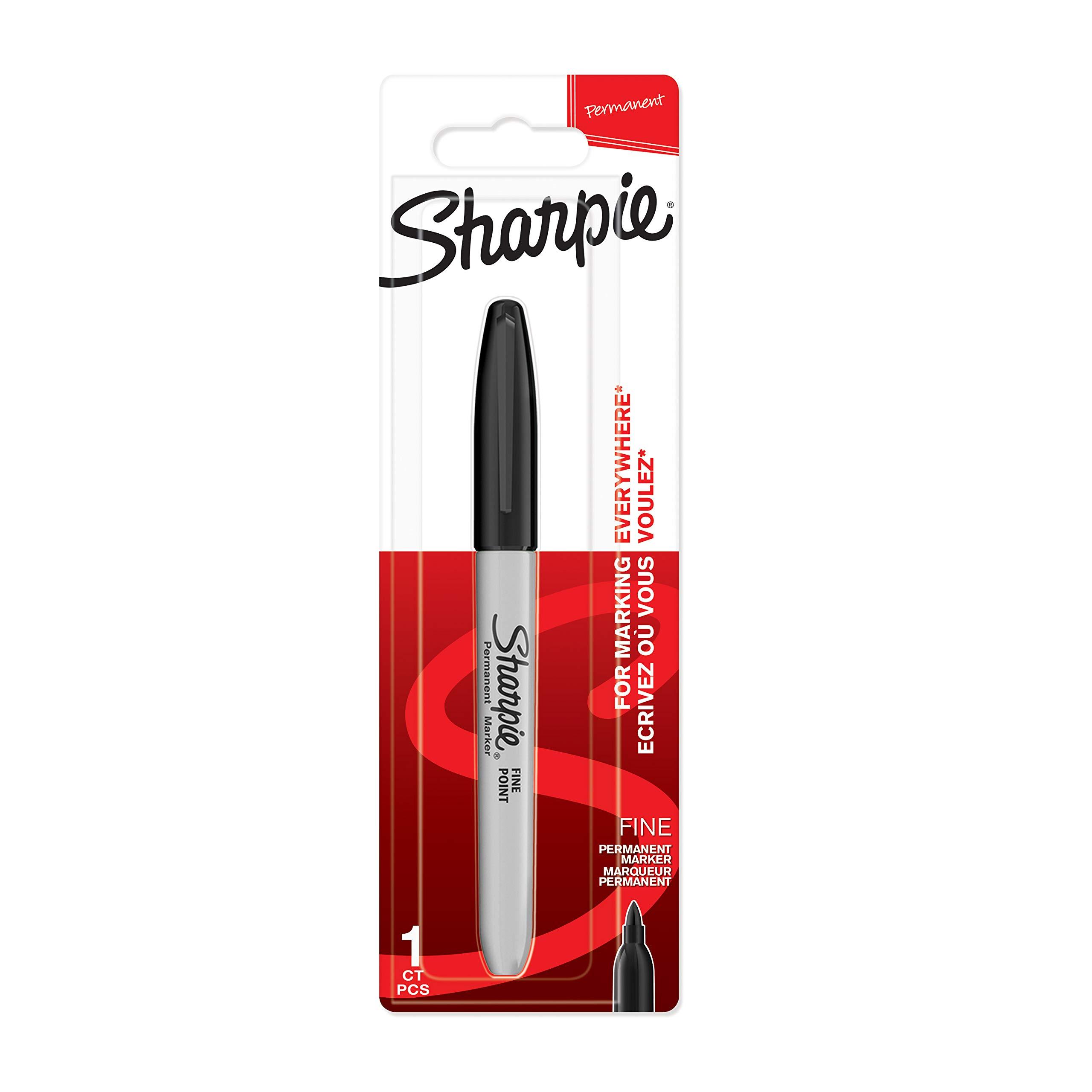 2 x Sharpie W10 Permanent Marker Black New