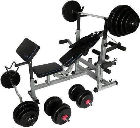 Uni Best Banco de pesas Fuerza Station Fitness Center PRO505 con ...