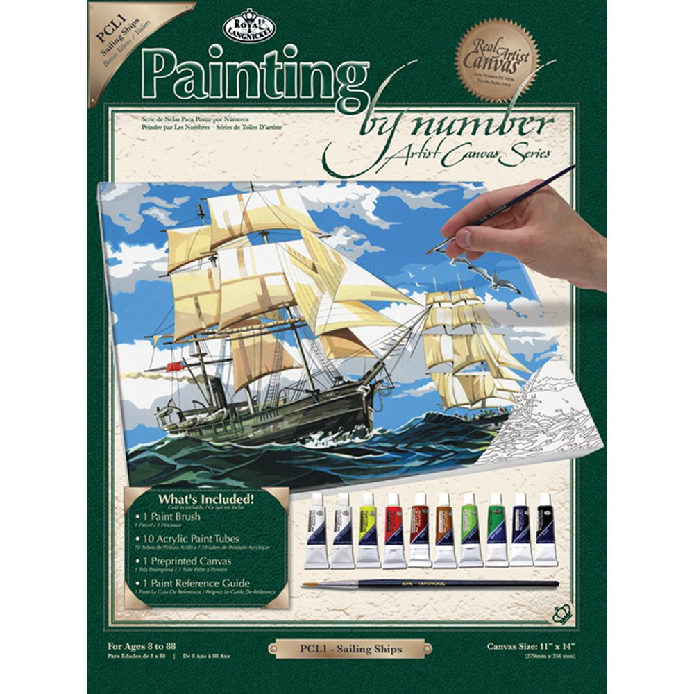 Royal Langnickel Painting By Numbers Large Canvas Set Sailing Ship Diagram Tall Ships Pinterest Home Kitchen