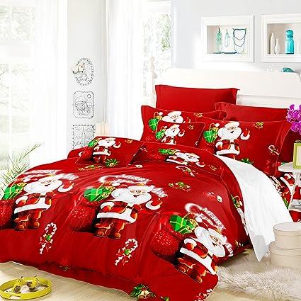 anself 3d printed christmas bedding sets duvet cover 2pcs pillowcases bed sheet - Christmas Bedding Sets