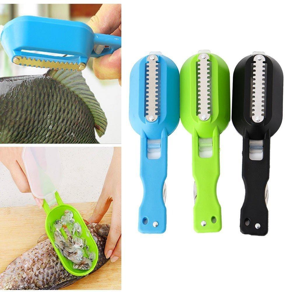 Kingken Useful Gadgets Fish Brush Skin Scraping Fish Scale Brush Graters Fast Remove (Random color)