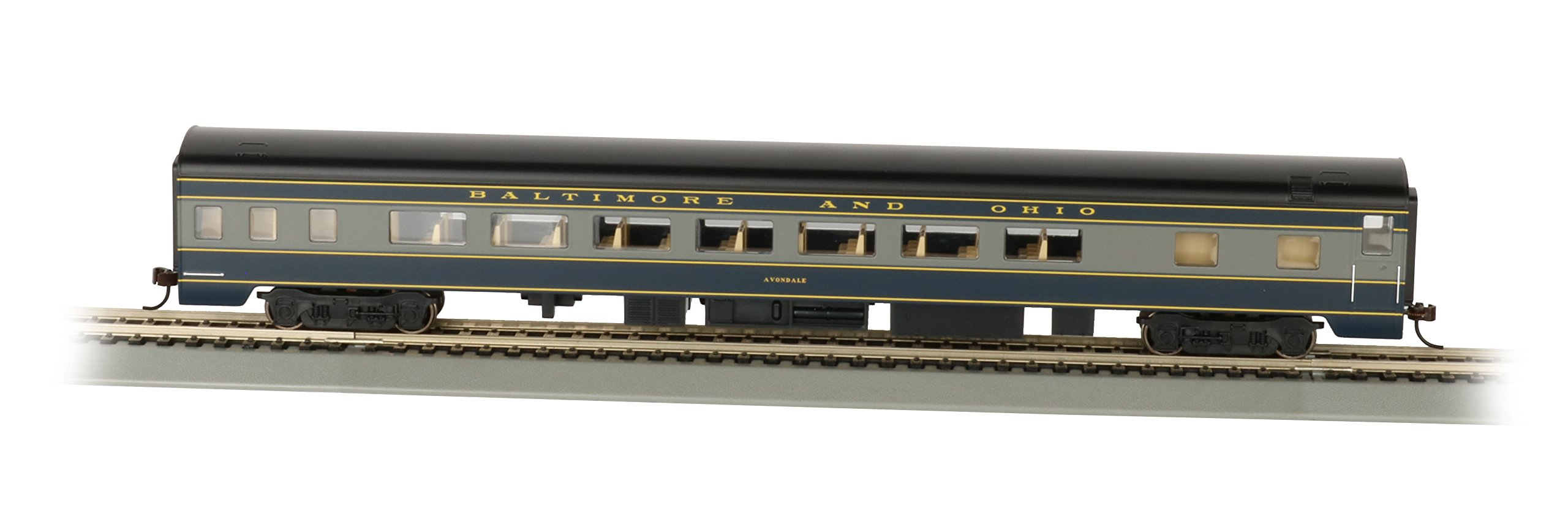Bachmann Industries B&O Smooth-Side Coach Car with Lighted Interior (HO Scale), 85' by Bachmann Trains (Image #1)