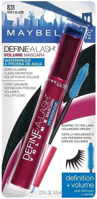 4f23dd99856 Amazon.com : Maybelline Define-A-Lash Waterproof Volume Mascara, Very Black  #831 : Water Proof Mascara : Beauty
