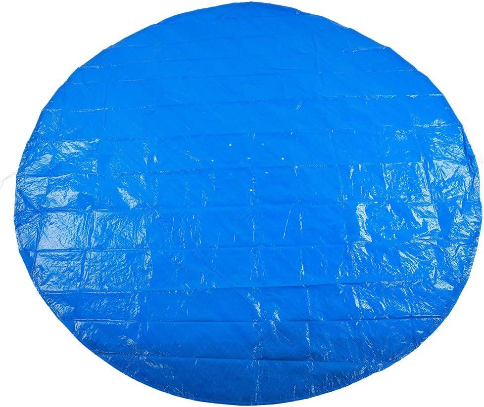 Durable Forma Redonda PE Impermeable A Prueba de Polvo de Lluvia Práctico Cubierta de Piscina de Varios tamaños Accesorios de Tela Protectora(Los 495cm)