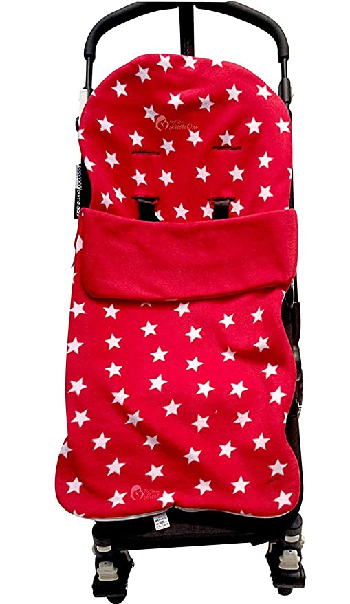 Snuggle saco/Cosy Toes Compatible con Mountain Buggy Duo Duet una jungla Swift rojo Star
