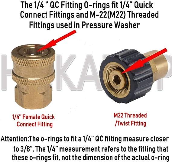 100 PK Buna Oring Seals Pressure Washer 3//8 NPT Quick Connect Coupling Repair