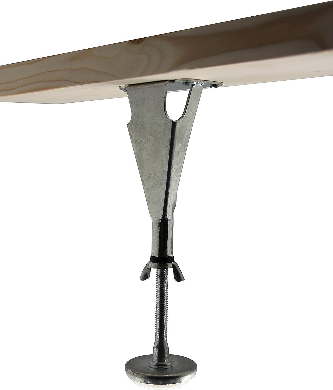 Kings Brand Furniture - Adjustable Height Center Support Leg for Bed Frame (Set of 4)