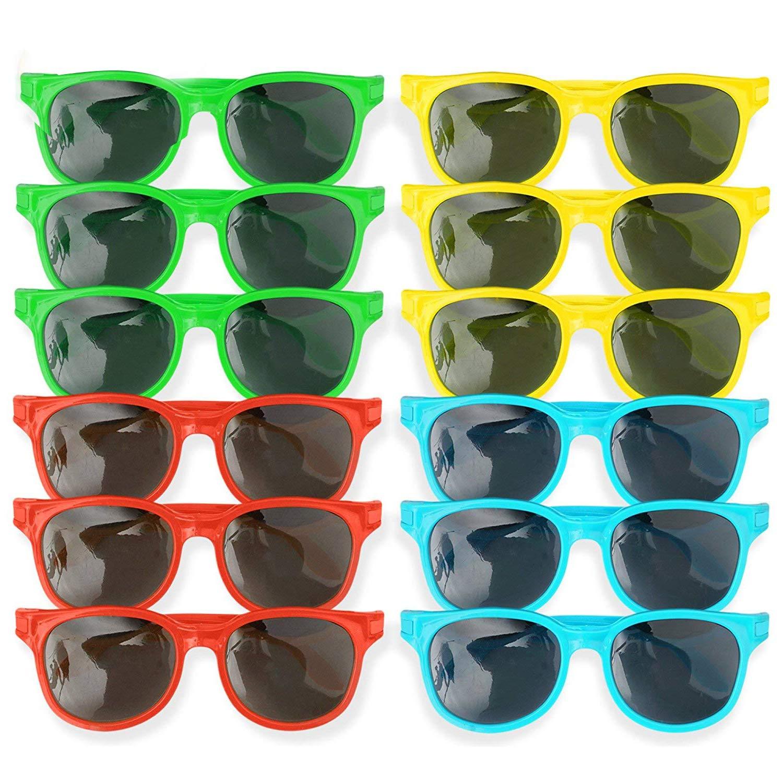 Bocotoer Lot de 12 Paires de Lunettes de Soleil Multicolores pour l/'/ét/é