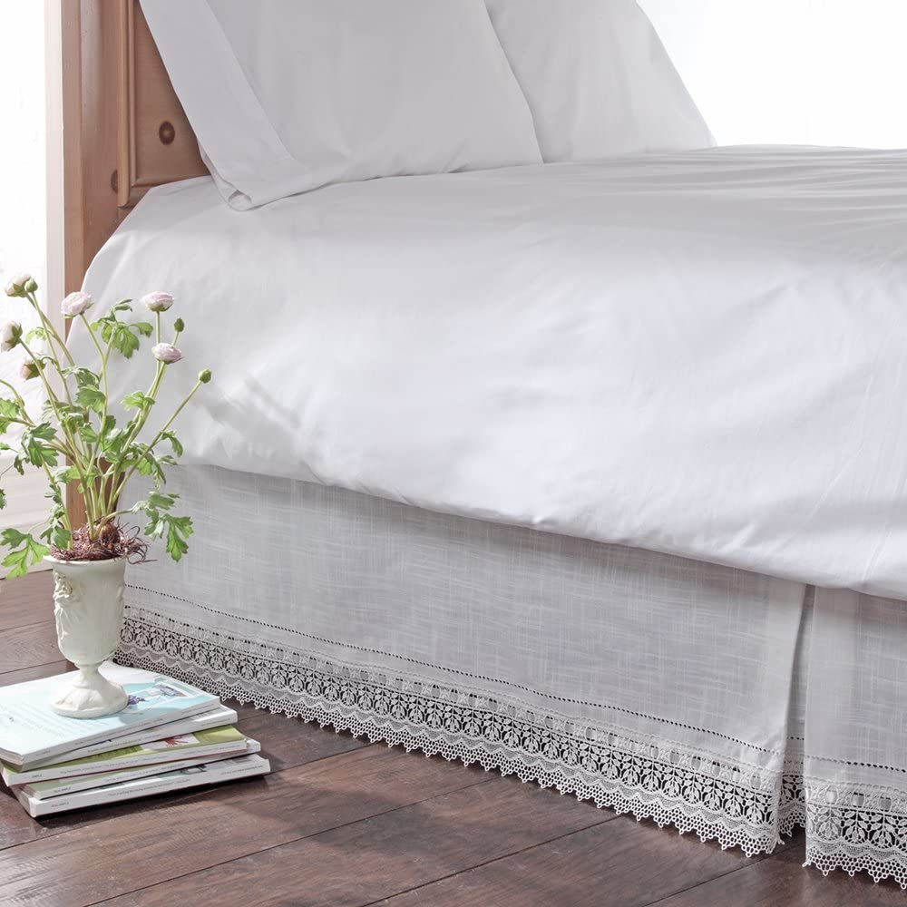Stylemaster Renaissance Home Fashion Sophia Dust Ruffle//Bed Skirt Ivory King