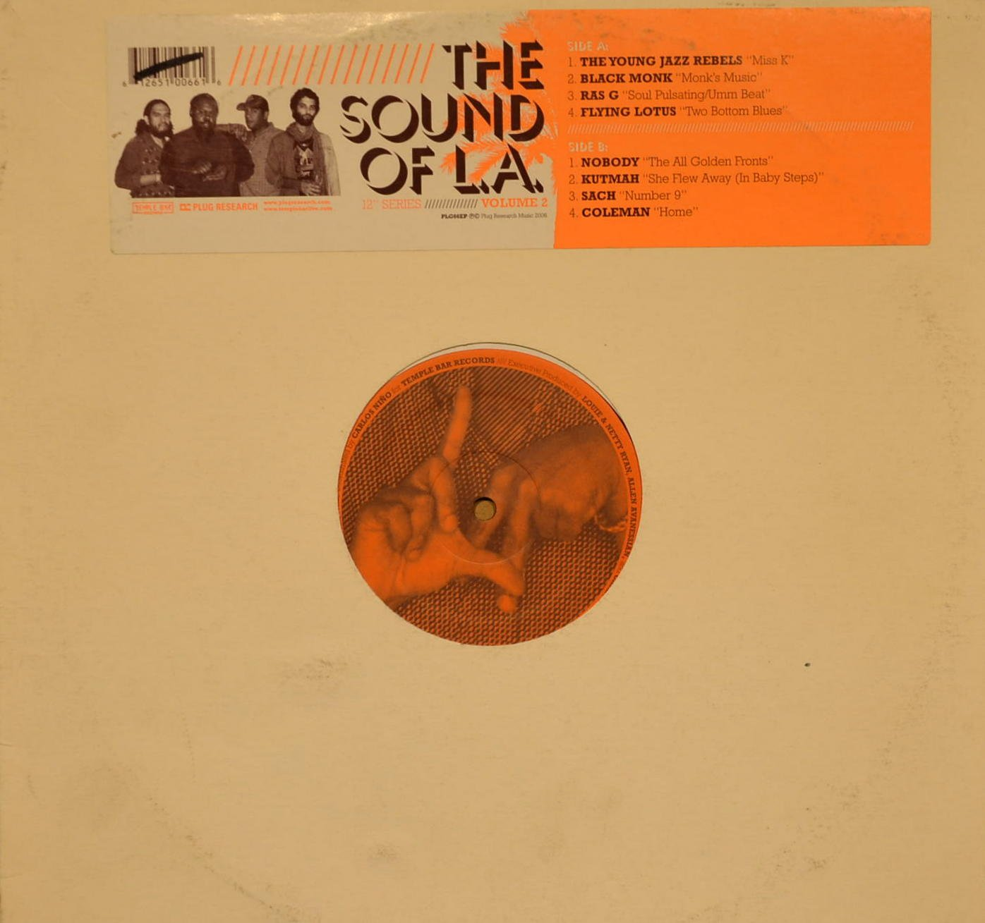 The Sound of LA : Songs - Miss K; Monk's Music; Soul Pulsating/ Umm Beat; Two Bottom Blues; the All Golden Fronts; She Flew Away (In Baby Steps); Number 9; Home (Vol. 2) by Plug Research