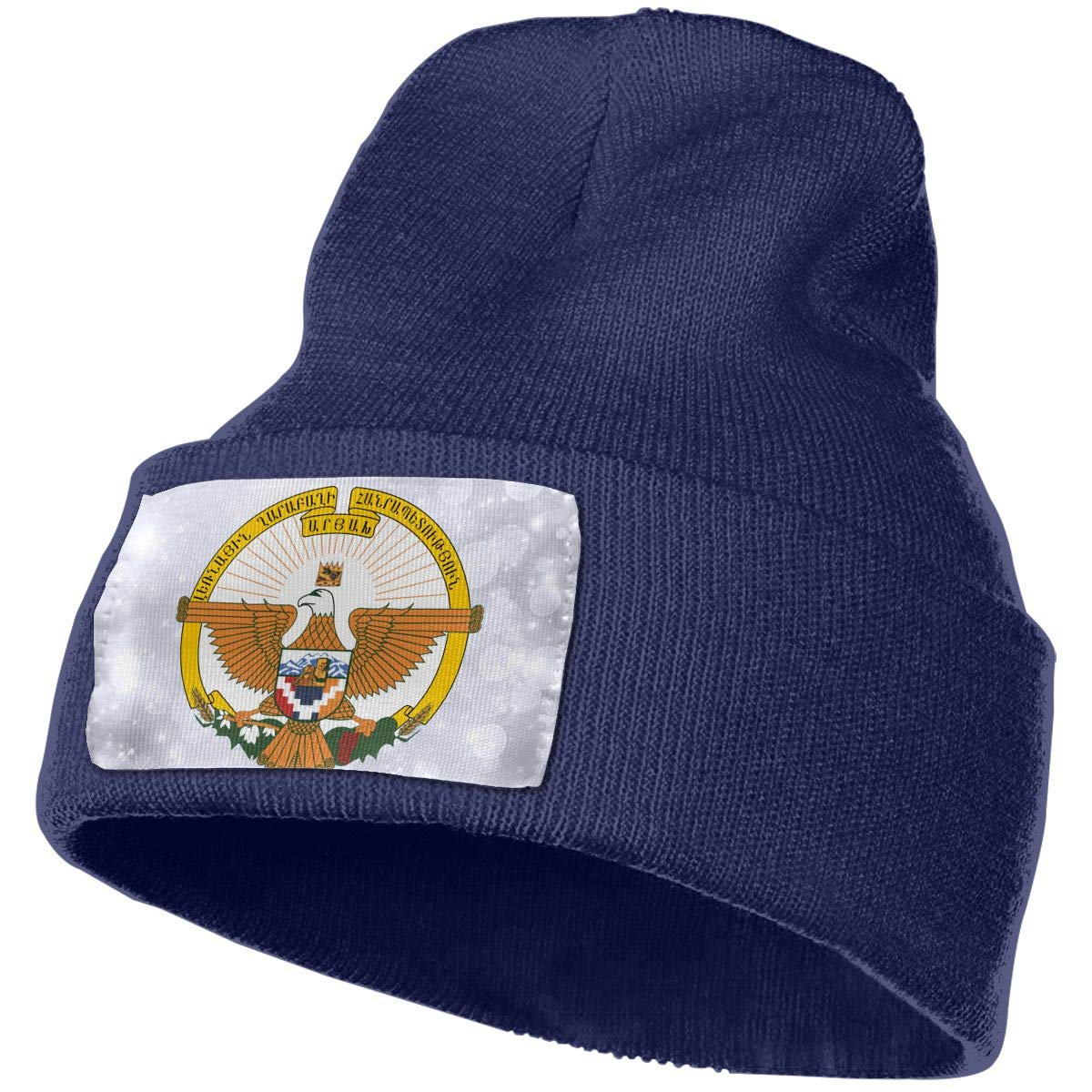 JimHappy Coat of Arms of Artsakh Hat for Men and Women Winter Warm Hats Knit Slouchy Thick Skull Cap
