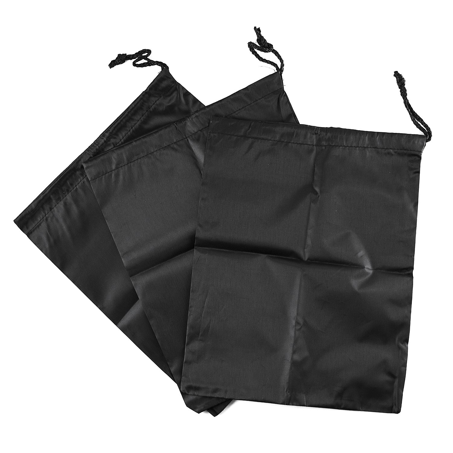 Waterproof Nylon Dust-Proof Travel Bags with Drawstring Closure for Shoes Footwear Protection, Space Saving, Closet Home Organization Gift 15'' x 12'' (3 Pack) by Super Z Outlet (Image #5)