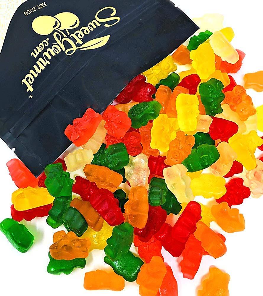 SweetGourmet Assorted Sugar Free Gummi Bears   Albanese Bulk Candy Gummy   Strawberry, Apple, Orange, Pineapple, Lemon, Cherry   Fat Free, Gluten Free, Dairy Free, MSG Free   2 Pounds