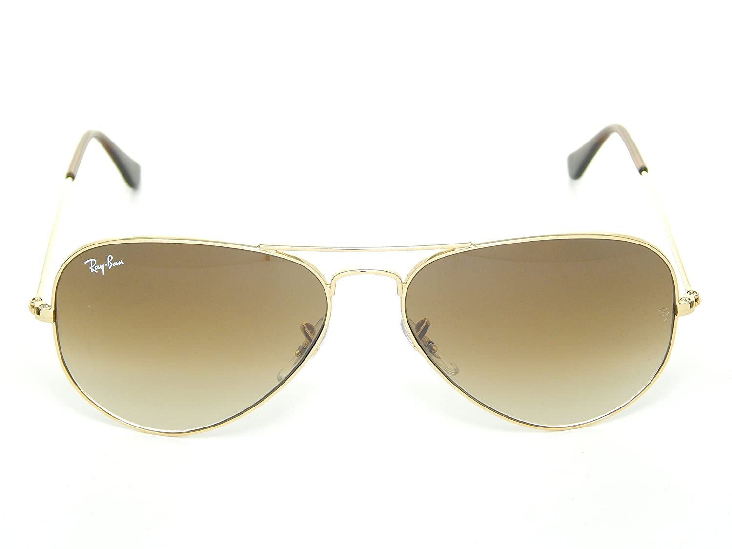 Amazon.com  New Ray Ban Aviator RB3025 001 51 Arista Crystal Brown Gradient  62mm Sunglasses  Shoes 02f4545bc3
