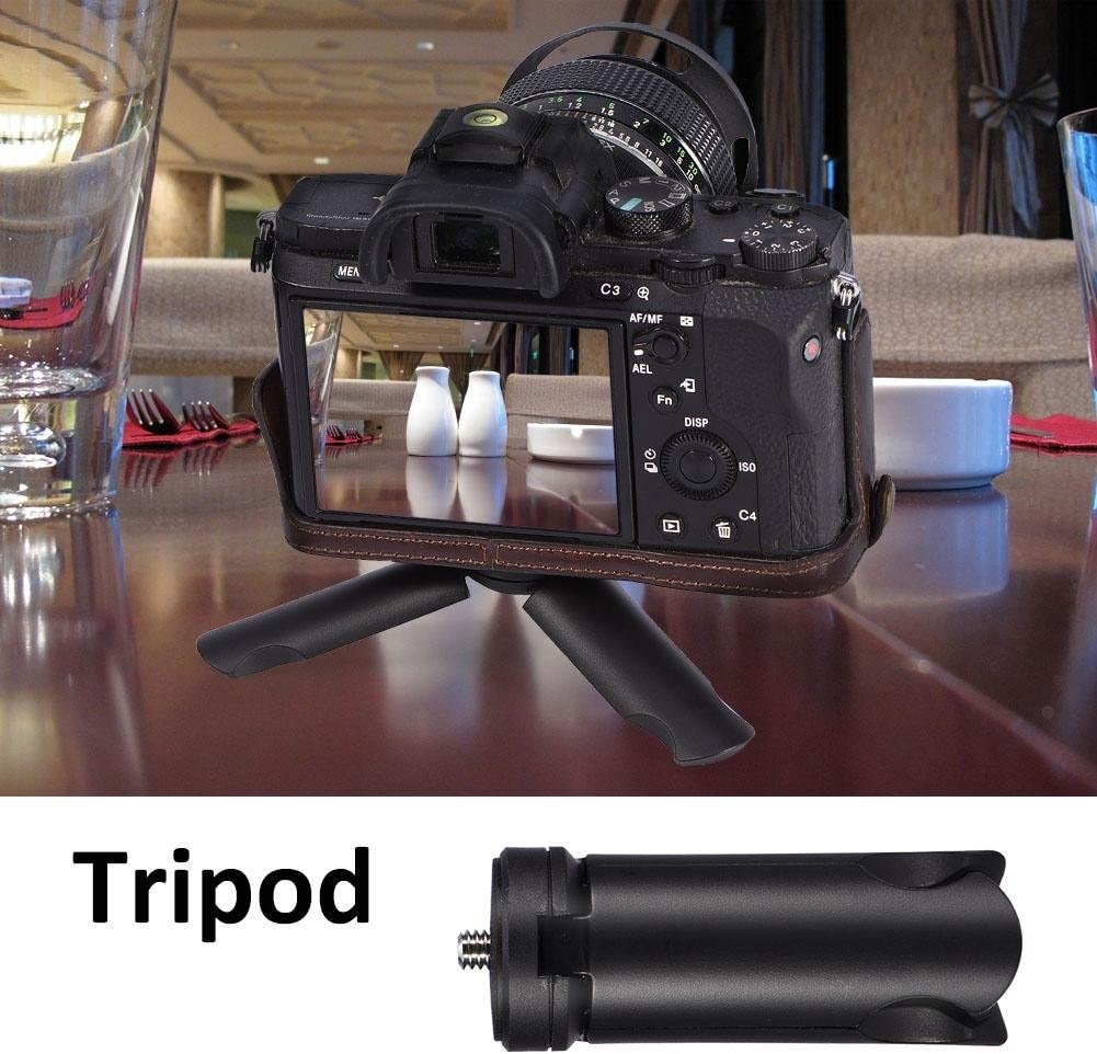 Compact Desktop Tabletop Stand Camera Tripod Stand Mount Portable Mini Tripod Stand Mount for Selfie Sticks Smartphone Camera ABS Mini Tripod Black
