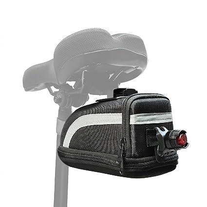 Amazon.com: Bolsa para sillín de bicicletas, bicicleta Tail ...