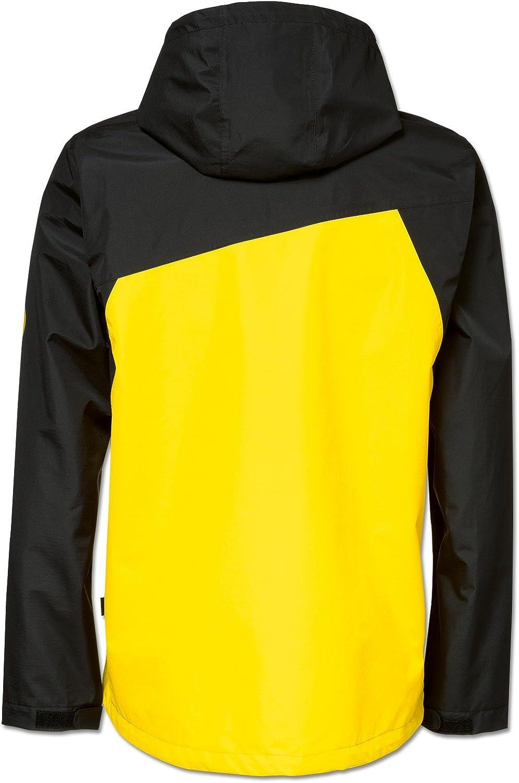 Schwarzgelb gelb Polyester Borussia Dortmund Regenjacke f/ür Kinder Schriftzug 92//98 bis 176 Rei/ßverschl/üsse Reflektoren