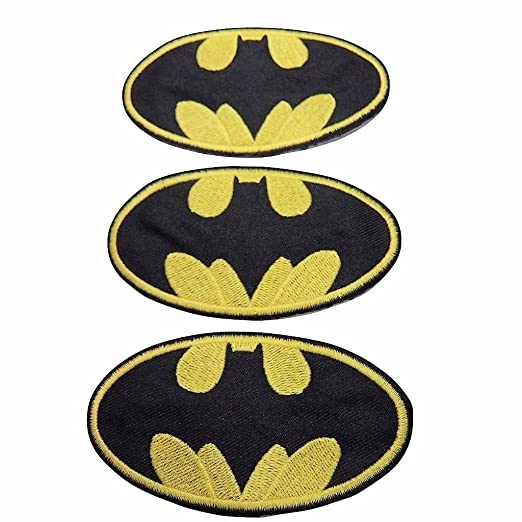 Amazon Batman Series Batman Symbol Iron On Patch Set Of 3 Clothing