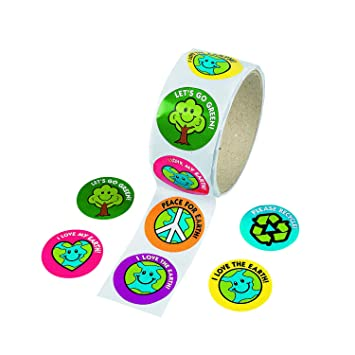 Save The Earth Sticker Roll (100 stickers)-Awareness, Eco-Friendly Educational Tools