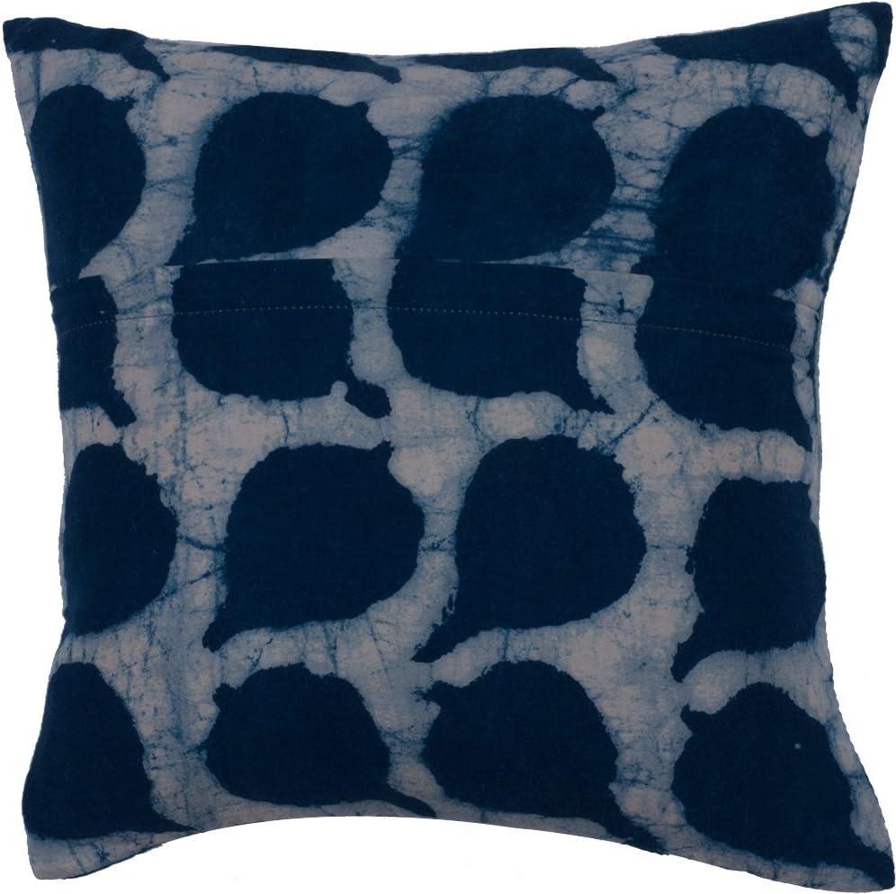Amazon Com Neel 100 Cotton Hand Embroidered 12 X 12 Designer Throw Pillow Pink Indigo Neel Home Kitchen