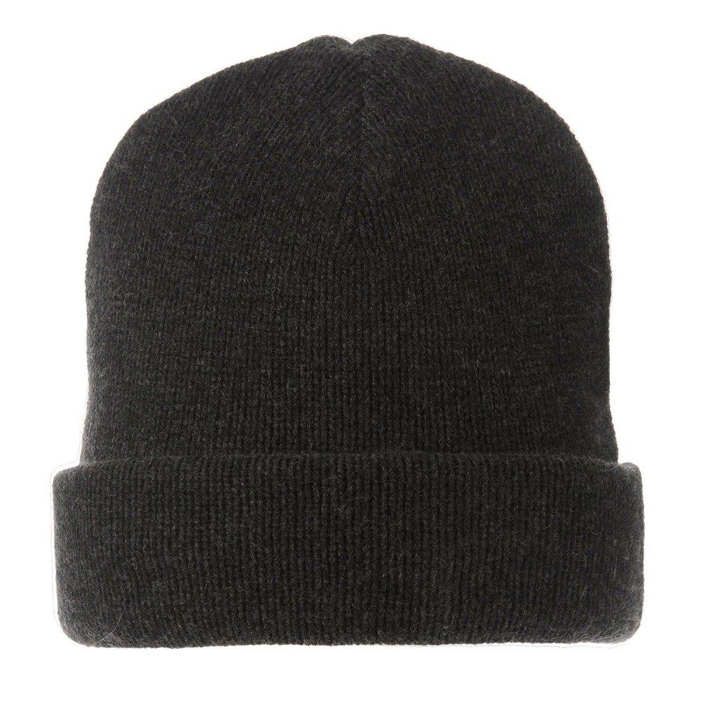 LES POULETTES Womens Hat 100% Cashmere 12 Plys Classics - Black
