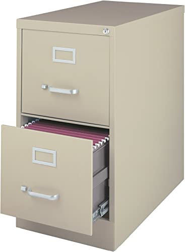 22 Deep 2-Drawer Letter-Size Commercial Vertical File