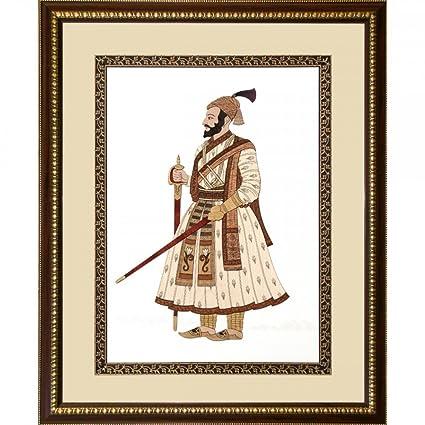 Buy Frames cottage Shivaji Maharaj Full Figure Wooden Photo Frames ...