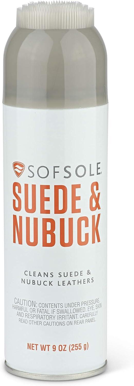Sof Sole unisex adult Suede/Nubuck Cleaner Shoe Insoles, Clear, 9 Ounces US