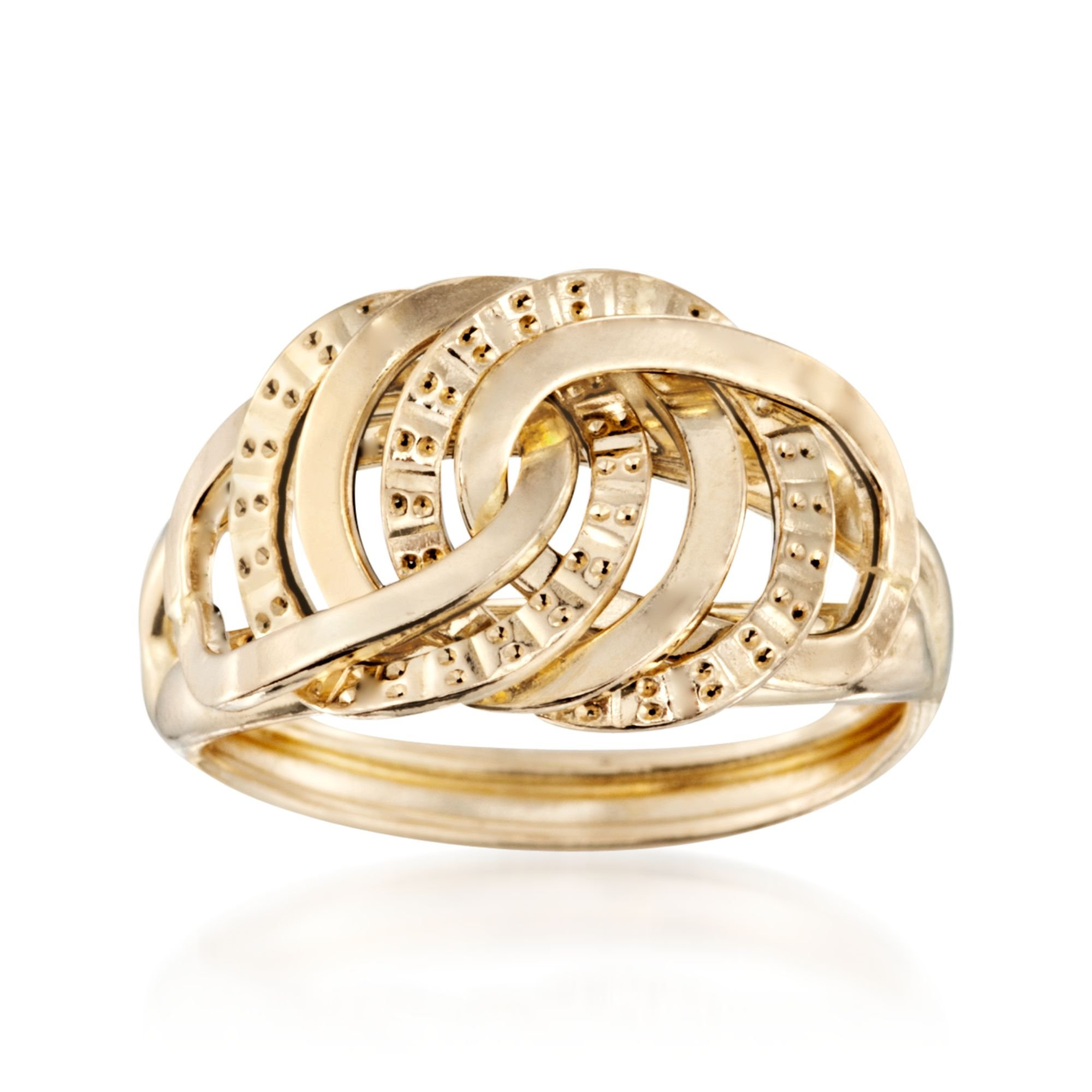Ross-Simons Italian 14kt Yellow Gold Interlocking-Link Ring