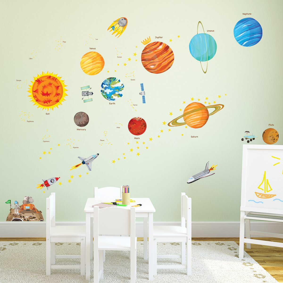 Amazon.com: Decowall DA 1501 The Solar System Kids Wall Decals Wall Stickers  Peel And Stick Removable Wall Stickers For Kids Nursery Bedroom Living Room  ... Part 77
