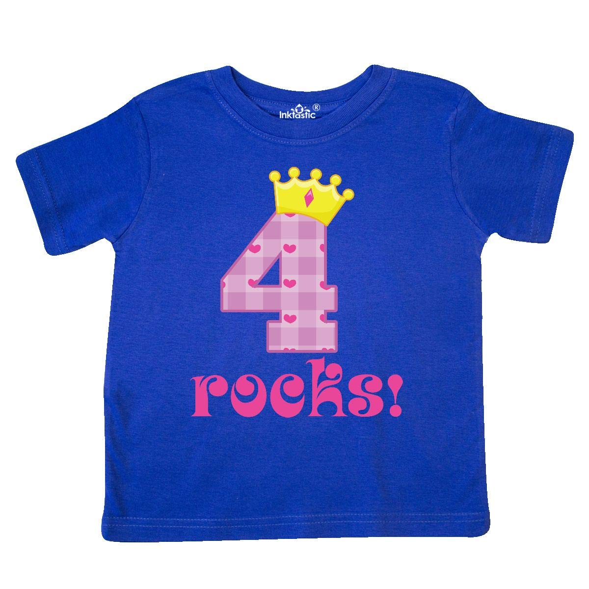 inktastic 4th Birthday Rocks 4 Year Old Girl Toddler T-Shirt