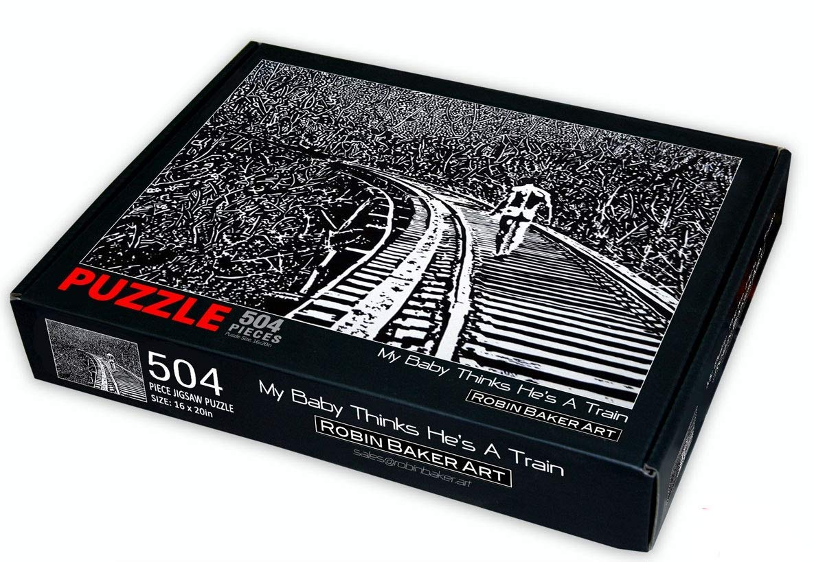 504 pc Jigsaw Puzzle from Original Artwork My Baby Thinks Hes A Train