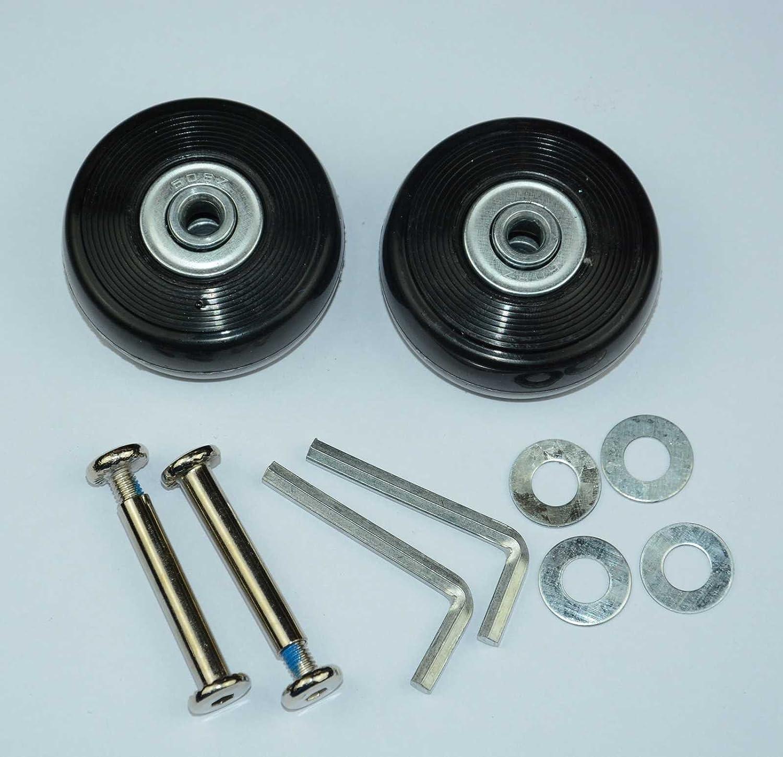 Ruedas de repuesto Lovinstar para maleta, diámetro exterior de 50 mm (50 x 20 x 6 mm), incluyen ejes: Amazon.es: Bricolaje y herramientas
