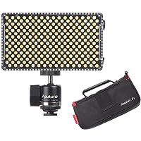 Aputure AL-F7, Aputure H198 Upgrade Ver 256 LED Bi-Color Dimmable Led Video Light, CRI95+ TLCI95+, 3200-9500K Adjustable…