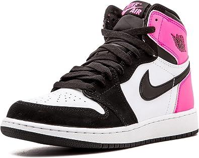 air jordan 1 retro rosa y negro