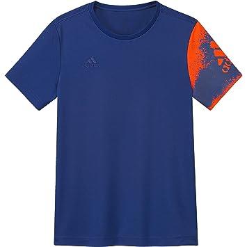 Adidas Entrenamiento Fútbol X Poly – Camiseta Sport té Azul/Rojo, niño, 164