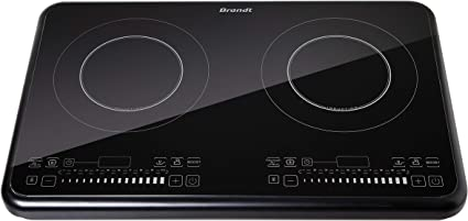 Brandt TI2FSOFT Placa de inducción portátil, 3400 W, Negra