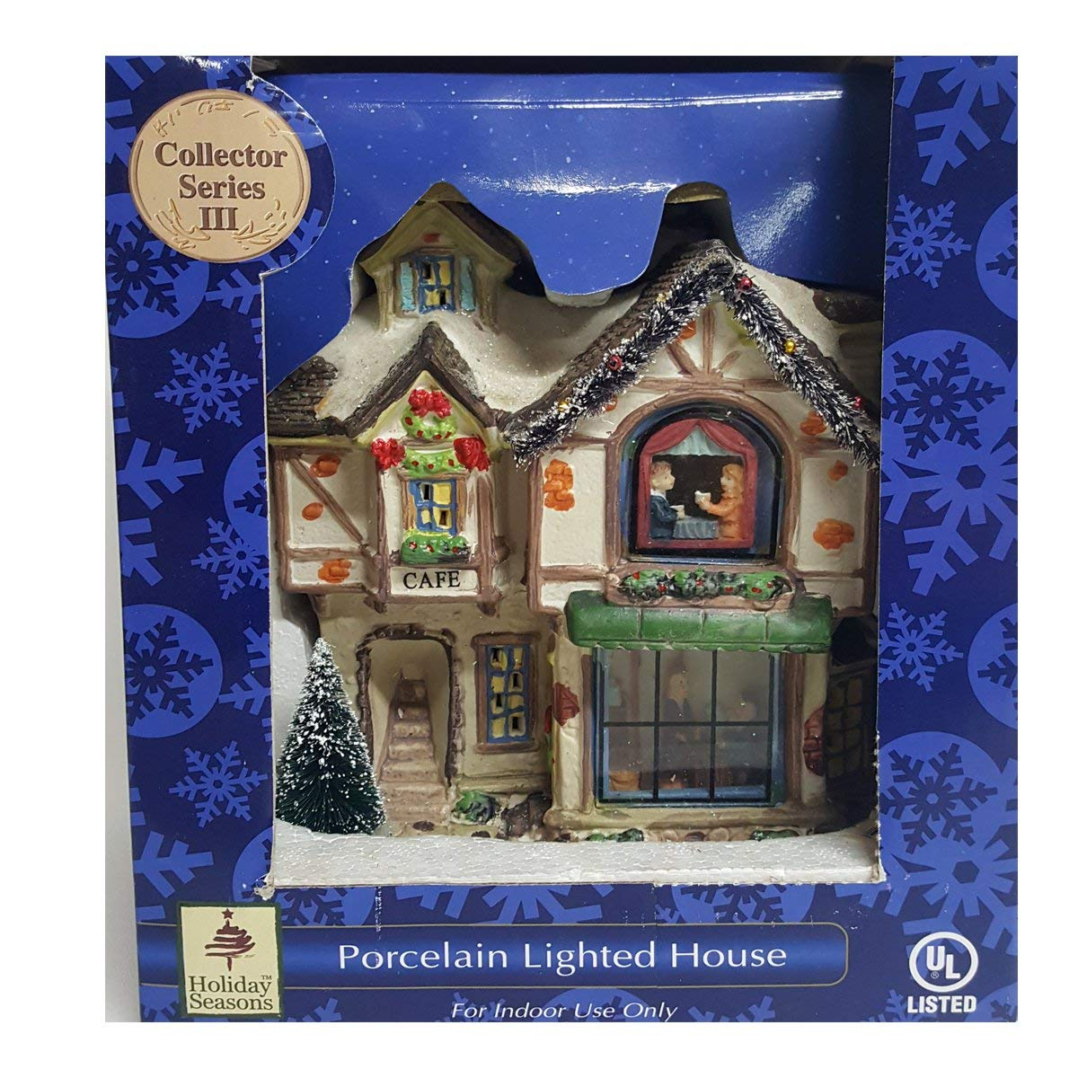 Holiday Seasons Victoria Falls ''Cafà Porcelain Lighted House Interior View 647181