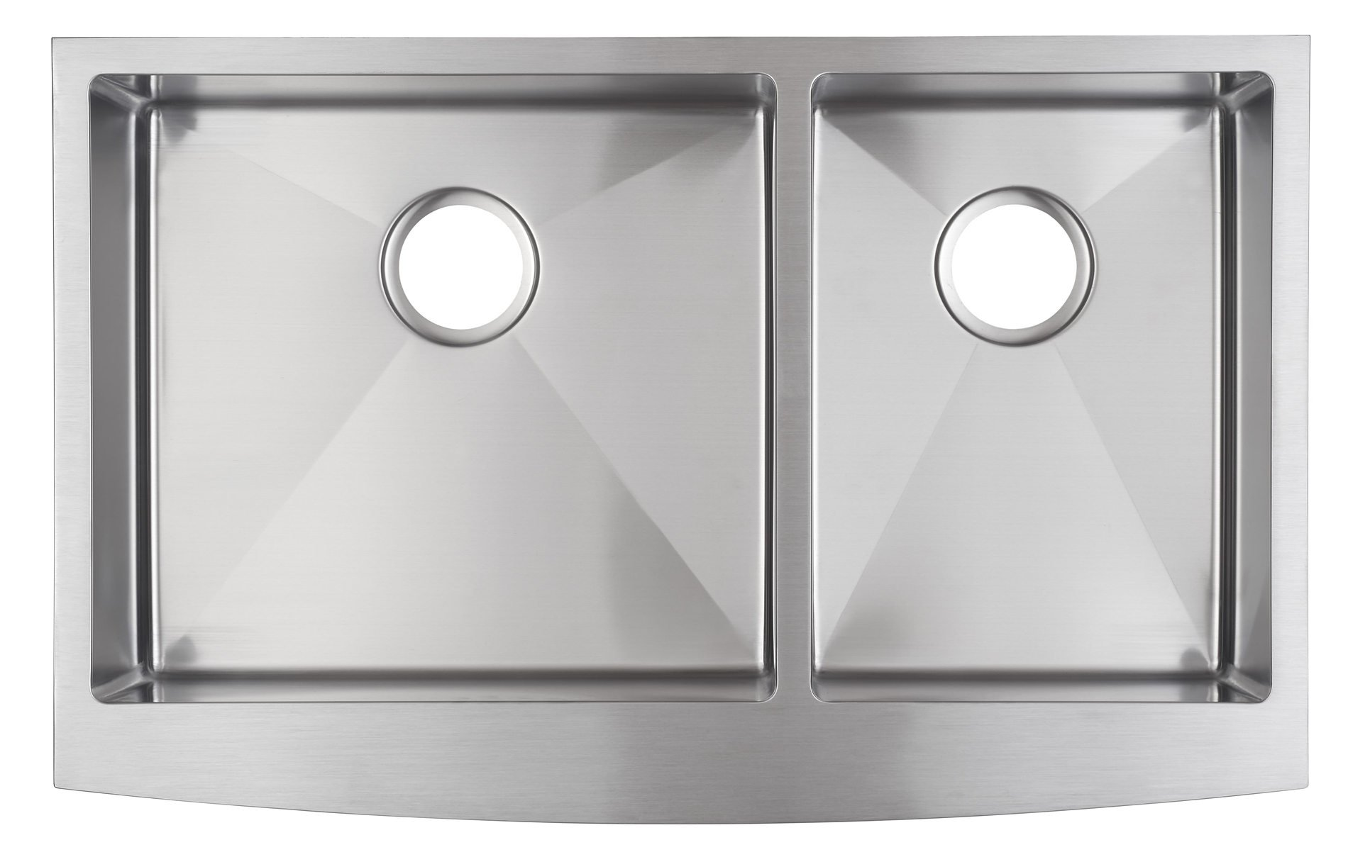 33x21 Inch Farmhouse Apron 60/40 Deep Double Bowl 16 Gauge Stainless Steel Luxury Kitchen Sink SuperSuper by SuperSuper (Image #3)